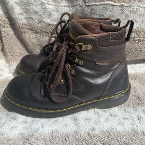 Dr. Martens Industrial Holkham Brown Leather Boots
